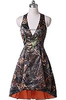 YanLian Short Homecoming Party Dress Camo Military Ball Dress Halter Hi-Lo YL22