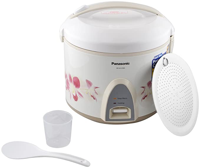 Panasonic SR-KA18A (R)230V,710 W,50 HZ 5.0 Liters Automatic-Jar Rice Cooker Rice & Pasta Cookers at amazon