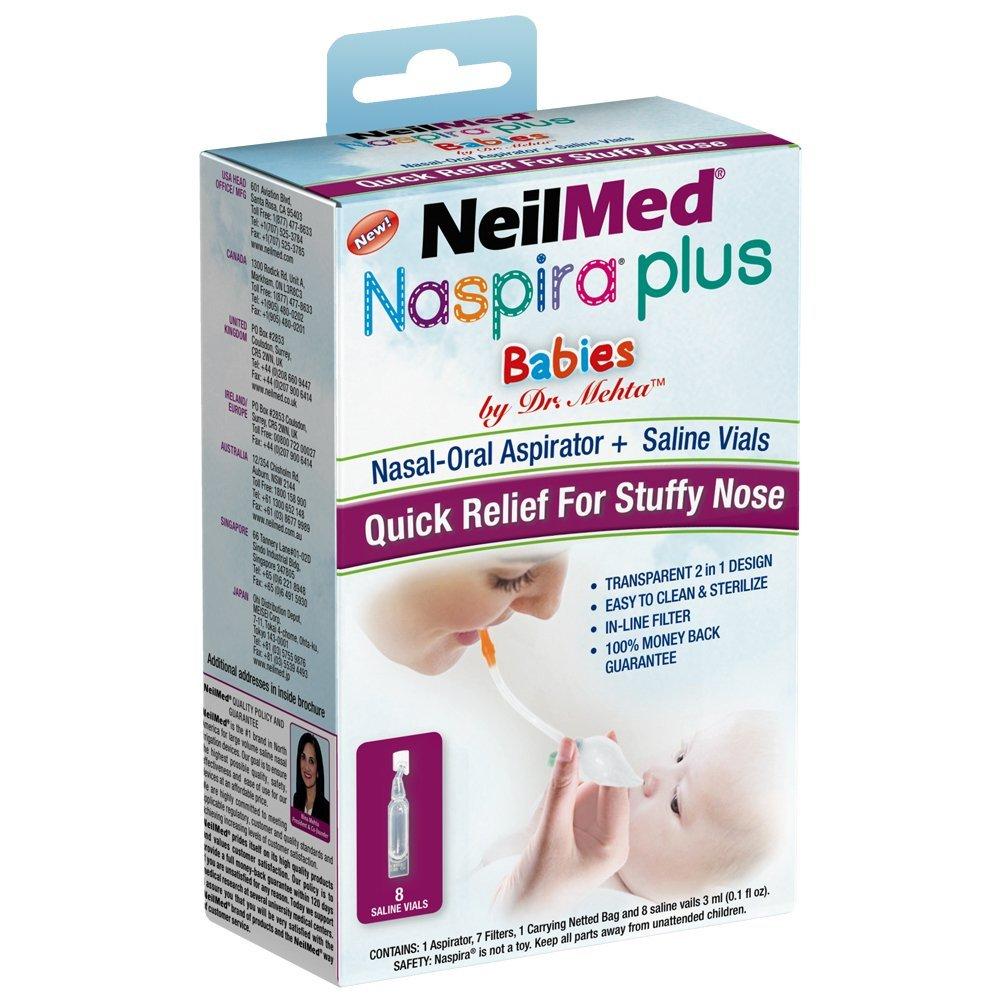 NeilMed Naspira Plus Nasal Oral Aspirator, 0.25 Pound Neilmed Pharmaceuticals Inc.