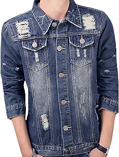 Comfy Mens Handsome Breathable Destroyed Flap Pockets Outerwear