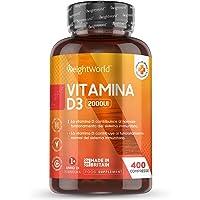 Vitamina D3 2000 UI 400 Comprimidos - Estimula Sistema Inmunológico, Incrementa Absorción de Calcio, Mejora la Salud de…