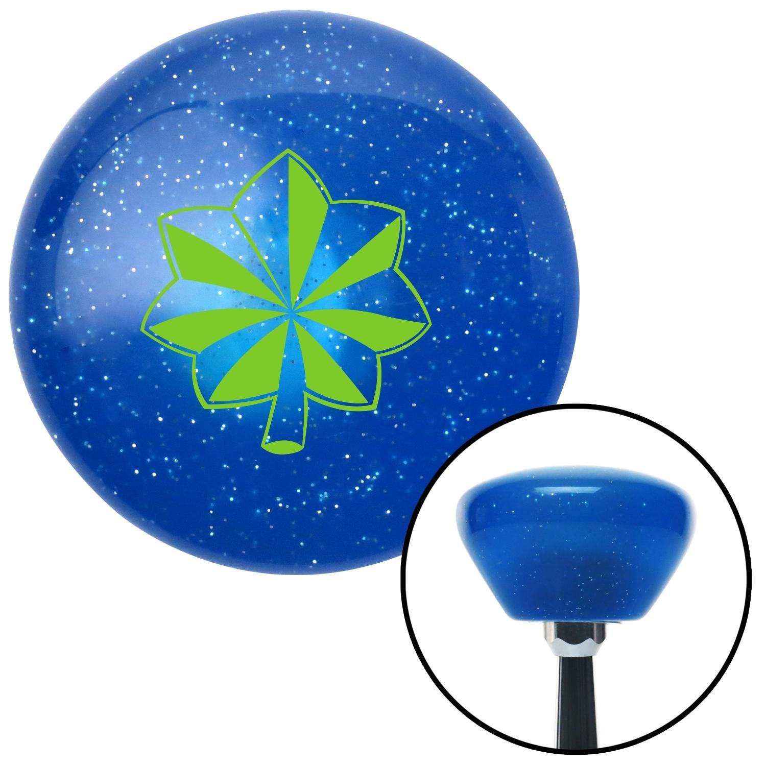 American Shifter 186734 Blue Retro Metal Flake Shift Knob with M16 x 1.5 Insert Green Officer 04 - Major and Lt. Colonel