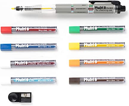 PENTEL PH802 Multi 8 8-Kinds of Lead in One Holder Color Mechanical Pencil