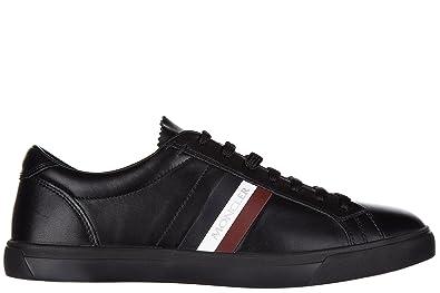 Moncler Men's Shoes Leather Trainers Sneakers LA Monaco Black US Size 7 B209A101740007903998