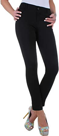 5162d22b892a22 BD Damen Super Stretch Jeans High Waist Röhrenjeans in 3 Farben bis ...