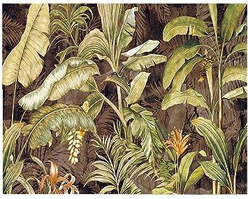 Lienzo de Tela diseño de la Naturaleza plátano; decoración de Interior; Colección La Bosque
