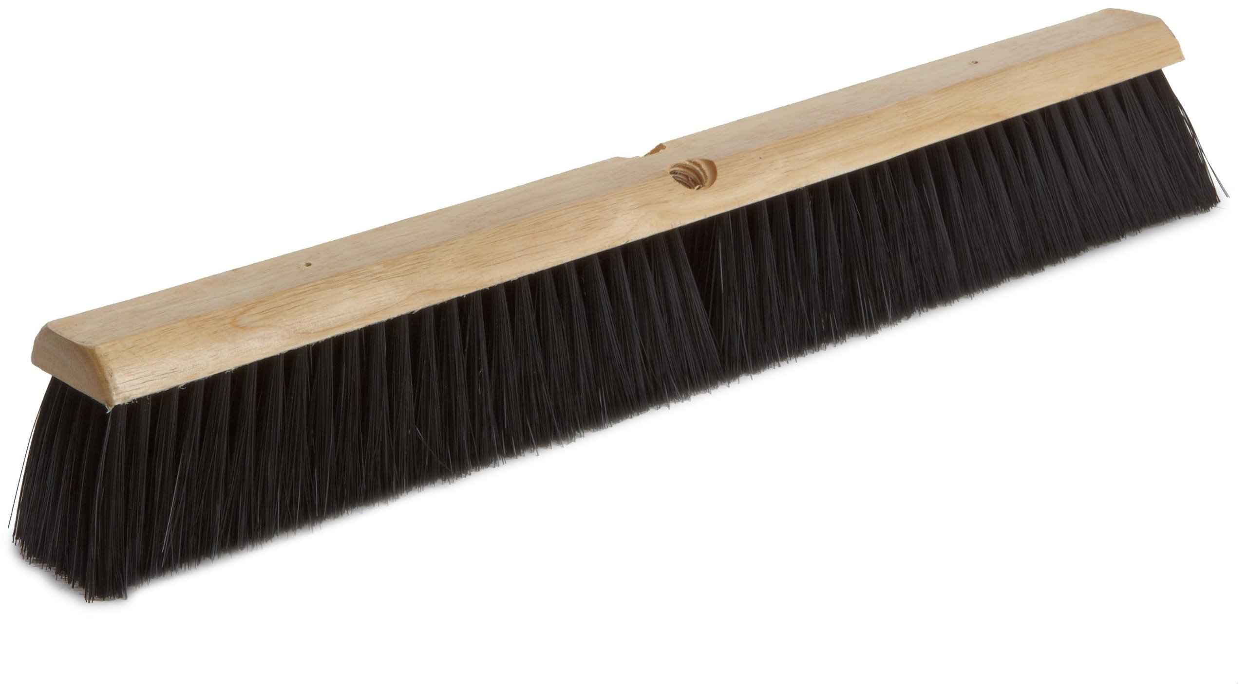 Magnolia Brush 2024 LH Line Floor Brush, Plastic Bristles, 3'' Trim, 24'' Length, Black (Case of 12)