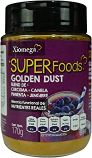 Xiomega-Superfoods Blend de Curcuma, Canela, Jengibre y Pimienta, 170 g