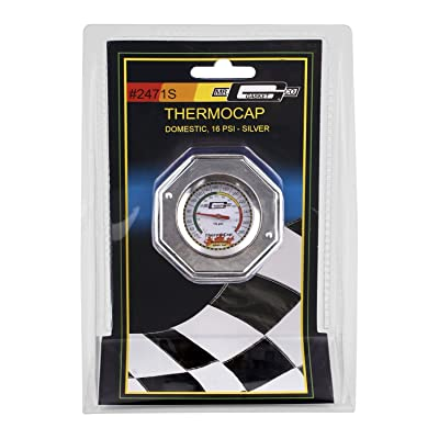 Mr. Gasket Domestic Thermocap 16 Psi-Silver: Automotive