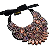 Holylove Women Statement Necklace Pink Ribbon Jewelry with Gift Box for Night Out Party Event Wedding Collection