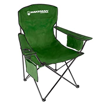 Fantastic Wakeman Outdoorsoversized Camp Chair 300Lb Capacity Heavy Duty Big Tall Quad Seat With Cup Holder Cooler Carry Bag Tailgating Camping Fishing Creativecarmelina Interior Chair Design Creativecarmelinacom
