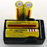 SmartLive 4 pcs 3.7V 18650 5000mah Rechargeable Lithium Battery with 18650 battery Charger