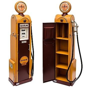 Modèle rétro-pompe à essence jaune-réplique fidèle avec horloge ...