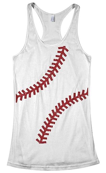 07e83da7adf9 Amazon.com: Threadrock Women's Baseball or Softball Seams Racerback Tank Top:  Clothing