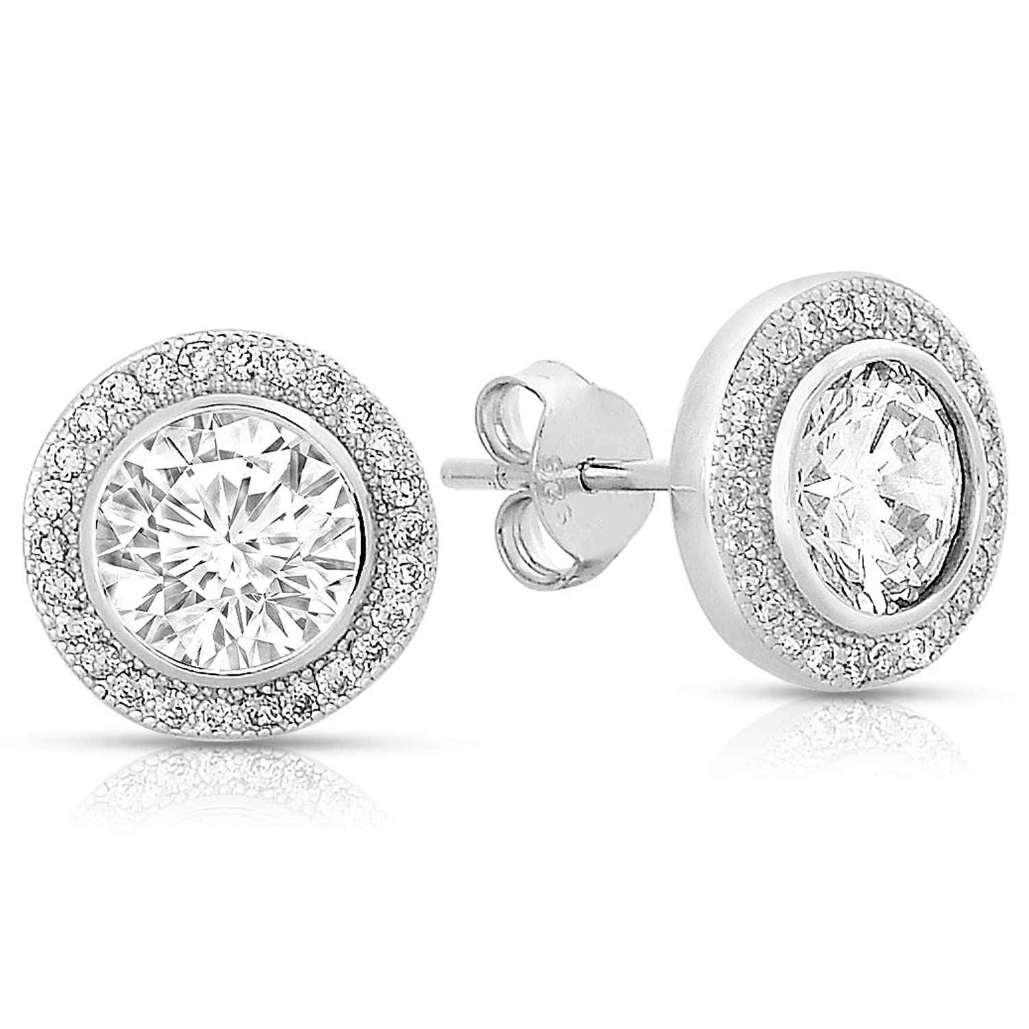 uk one constellation rhodium onebyone white halo in earrings cz constellations stud by sterling silver square jewellery