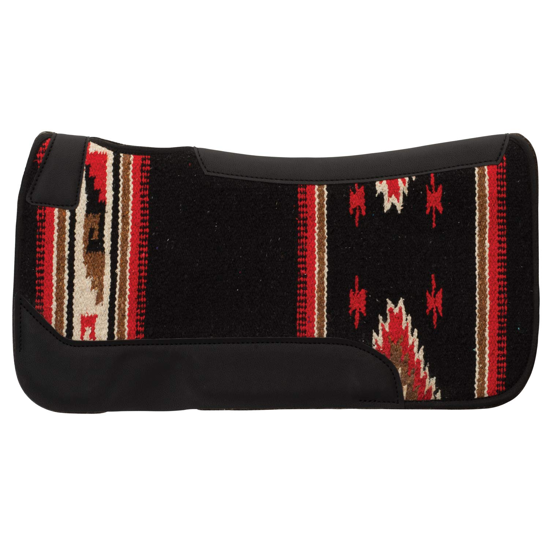 Black Pattern 23\ Black Pattern 23\ Weaver Leather Pony Contoured Single Weave Wool Blend Felt Saddle Pad