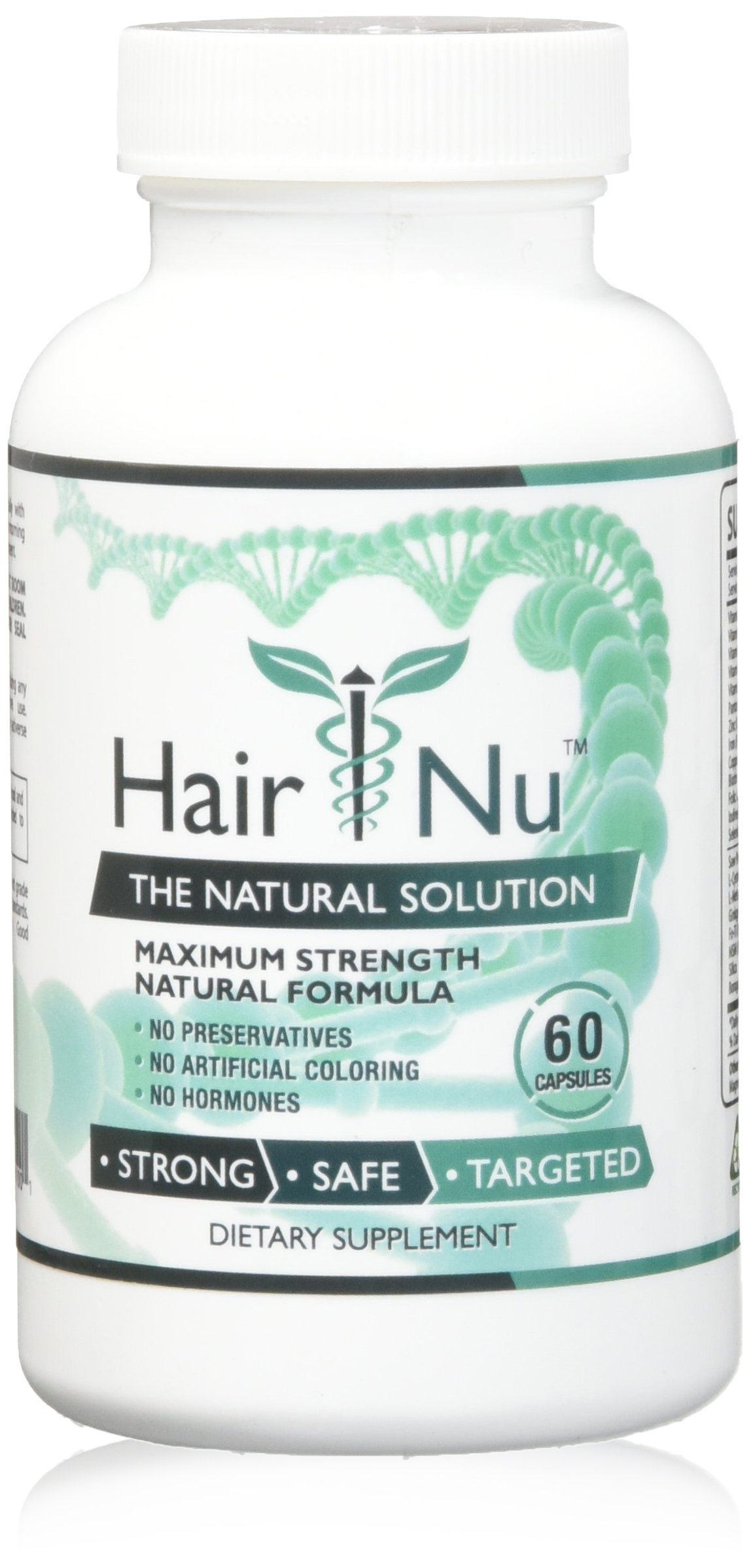 HairNu Natural Hair Growth Solution / Dietary Supplement, 1 Bottle – 60 Capsules by HairNu (Image #1)
