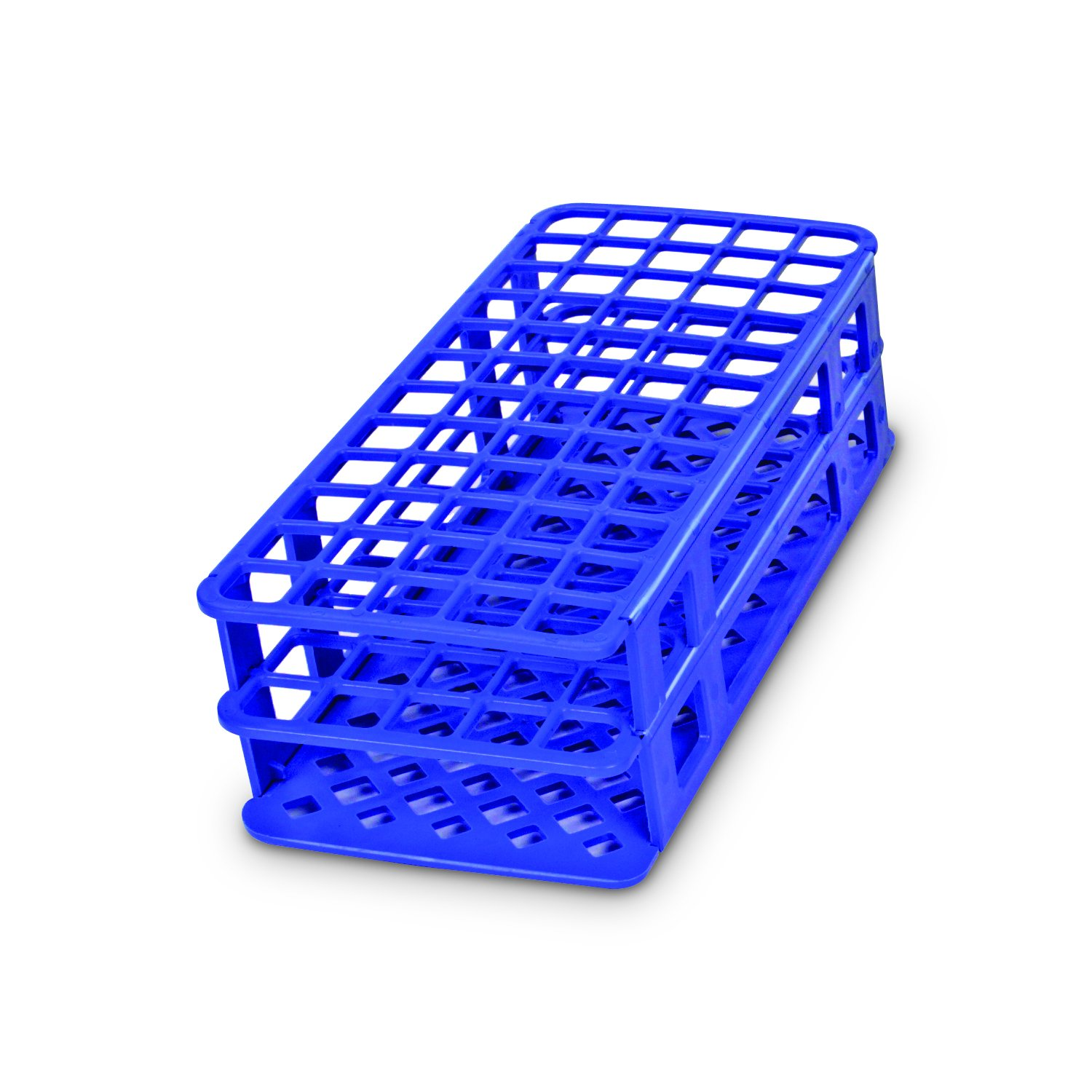 Heathrow Scientific HEA243073B Fold and Snap Rack for 13mm Tubes, Blue