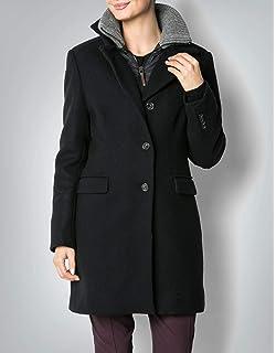 32d1bd577339 Joop! Damen Mantel Wollstoff Warme Jacke Unifarben, Größe  38, Farbe   Schwarz