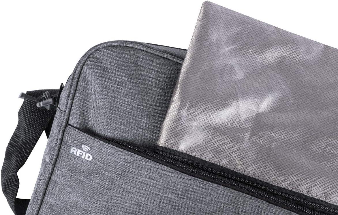 MKTOSASA Porte-Documents de s/écurit/é au Design Urbain en Polyester r/ésistant 300D 38 x 29,5 x 8,5 Gris