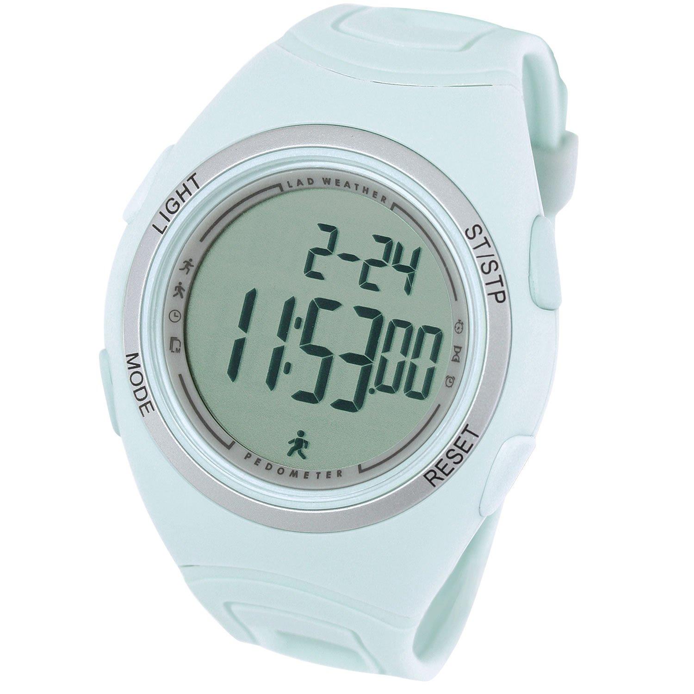 [Lad Weather] 3d podómetro. Contador de pasos y de consumo calórico. Distancia, velocidad. Relojes deportivo
