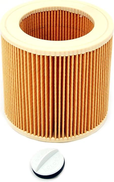 Karcher 64145520 - Filtro para aspiradora en húmedo y seco: Amazon.es: Hogar
