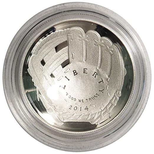 Box OGP /& COA 2014-P $1 Proof National Baseball Hall of Fame Silver Dollar