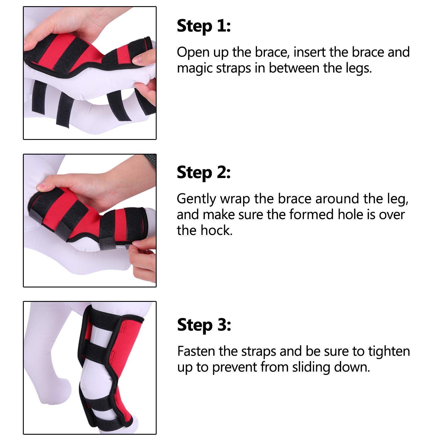 bdb9e5b05f Amazon.com : MIGOHI Dog Knee Brace for Torn ACL/CCL Hind Back Leg Dog Canine  Protector Rear Leg Hock Joint Wrap Protects Compression Sleeves for Injury  and ...