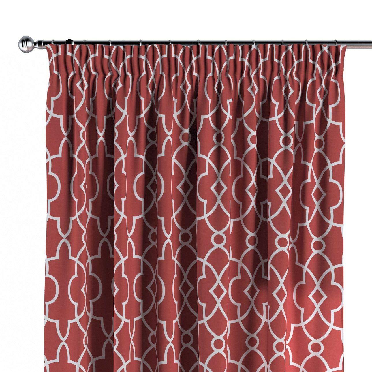 Dekoria Vorhang mit Kräuselband Dekoschal Blickdicht 1 Stck. 130 × 260 cm rot-weiß Maßanfertigung möglich