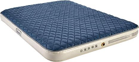 Coleman - Colchón hinchable con sobrecolchón, doble aislado, color azul y blanco