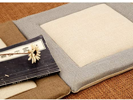 Amazon.com : Linen Splice Square Chair Cushion Japan Style ...