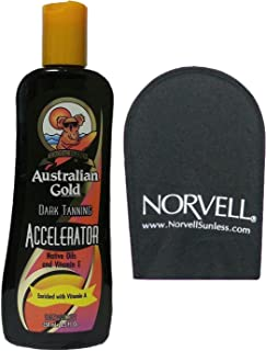 product image for Australian Gold PROFESSIONAL Dark Tanning Lotion Accelerator 8.5 Oz with Applicator Mitt