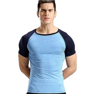 Zesteez Mens Polyester Anti Sweat Active Wear Sports T Shirt Blue Medium