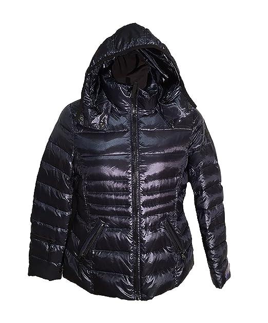 7c22e10479e Andrew Marc Womens Premium Down Coat, Shine Dark Indigo (Large, Shine Dark  Indigo