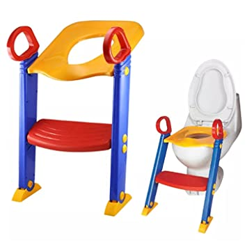 LOZ Baby Ladder Toilet Ladder Chair Toilet Trainer Potty Toilet Seat Step up toddler Toilet Training  sc 1 st  Amazon.com & Amazon.com : LOZ Baby Ladder Toilet Ladder Chair Toilet Trainer ... islam-shia.org