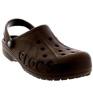 2392c7c1f1be7b Crocs Unisex Mens Womens Baya Clogs Beach Mules Holiday Sandals Shoes -  Chocolate - 3-