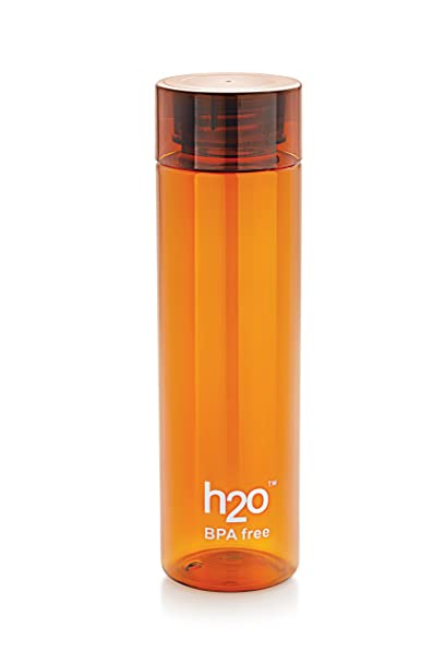 0532b20d50 Buy H2O Plastic Water Bottle, 1 Litre, Brown Online at Low Prices in India  - Amazon.in