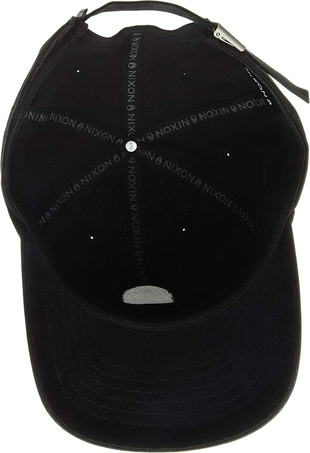 cc7fb7947cbb Amazon.com: NIXON Men's Olivas Strapback Hat Black One Size: Clothing