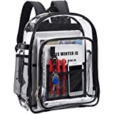 Clear Backpack with Laptop Compartment for School, Work, Travel & Sports