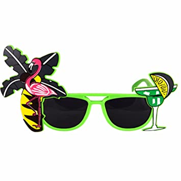 Fancy Dress Hawaiin Beach Party Tropical Coloured Sunglasses Accessory Yellow by Henbrandt 0z6fMjMsFA