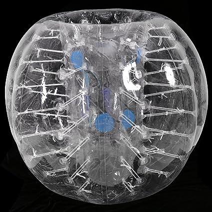 Amazon.com: Pelota transparente en forma de burbuja inflable ...