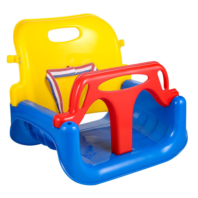 【再入荷!】 (Blue) 1 - Kemanner Set Toddler Swing Seat Baby High Back High Full Bucket 3 in 1 Swing Seat with Heavy Duty Chains Playground Swing Set (Blue) B07BK5SRKF ブルー, シタラチョウ:f16488f4 --- munstersquash.com