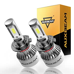 Auxbeam LED Headlights F-S2 Series Headlight kits H7 PX26D LED Headlight Bulbs with 2 Pcs of Conversion Kits 72W 8000LM High Brightness COB Led Chips Fog Light, Halogen Replacement