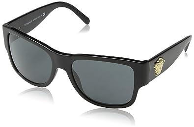 ce7279f03e0 Versace Rock icônes Medusa Flare lunettes de soleil en noir VE4275 ...