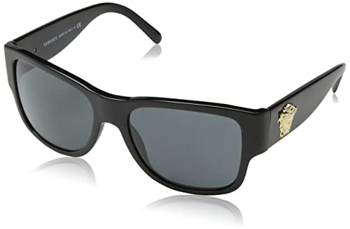 e55acc990c7 Versace Women s VE4275-GB1 87-58 Black Square Sunglasses  Amazon.ca  Shoes    Handbags