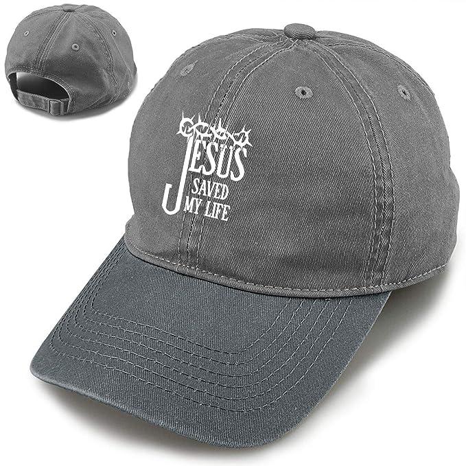 5f4e8887 Jesus Saved My Life Fashion Vintage Baseball Cap Adjustable Denim Dad Hat  for Men and Women
