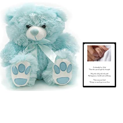 Teddy Bear Baby  Pink or Blue  Boys Girls  Newborn  Easter  Christening