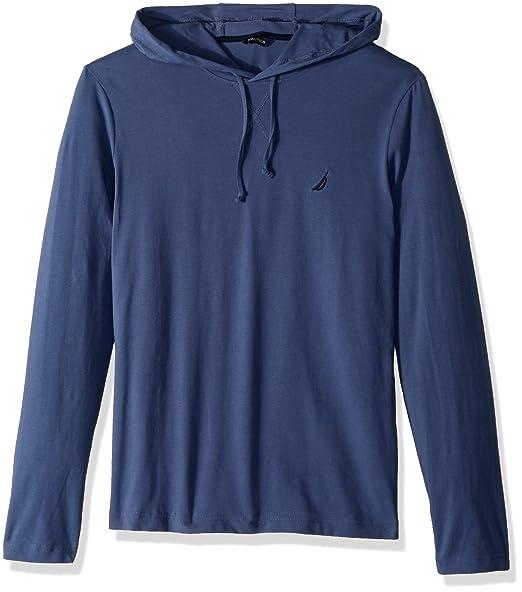 49921b70 Nautica Men's Long Sleeve Pullover Hoodie Sweatshirt, Blue Indigo Small