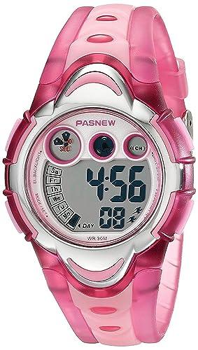 LED impermeable de los deportes reloj Digital para niños niñas niños (rosa)