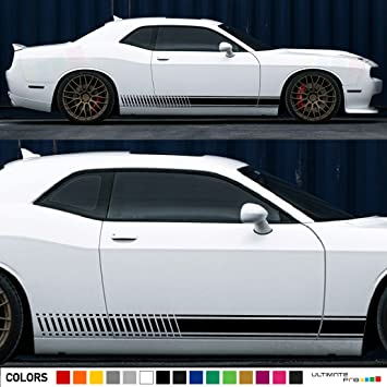 2x decal sticker vinyl side racing stripes compatible with dodge challenger srt8 v6 r t